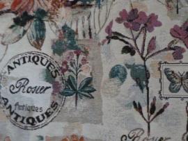 """Gobelin stof """" Antiques Rosier""""."""