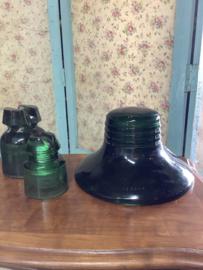 Grote groene glazen isolator