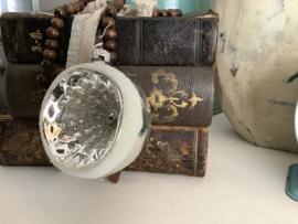 Deukbal zilver met sneeuwdeco