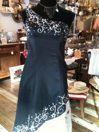 Prachtige ballroom jurk in zwart-wit.
