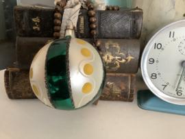 Bal met groen en geel 8 cm