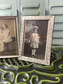 Fotolijstje zilverkleur/hout