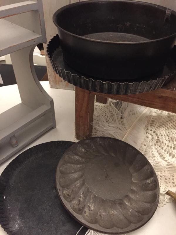 Oude bakvormen