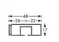 1 spoors profi rail wit 100 cm tot 600 cm