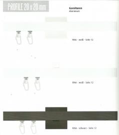 Quadro gordijnenrail zwart en/of wit