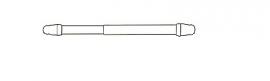 1 uitschuifbare vitrage-roede 40/60 cm