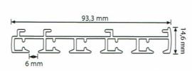 5 spoors starrails 100cm tot 600cm