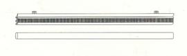 60cm paneelglijder en onderlat