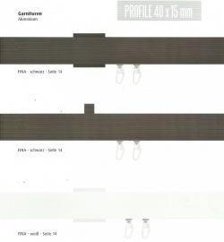 rechthoek gordijnenrail zwart en/of wit