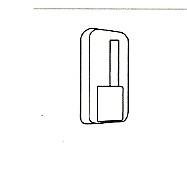 1 uitschuifbare vitrage-roede 60/80 cm