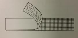 20mm breedte hakenband voor te naaien  per meter
