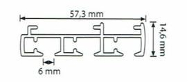 3 spoors starrails 100cm tot 600cm