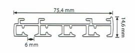 4 spoors starrails 100cm tot 600cm