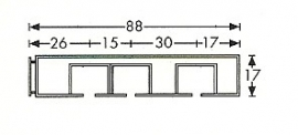 3 spoors profi rail wit 100 cm tot 600 cm