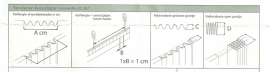 wave gordijnband per meter