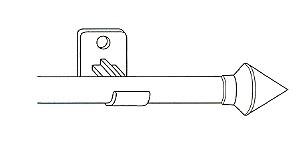 ronde uitschuifroede atlanta wit 55-85cm