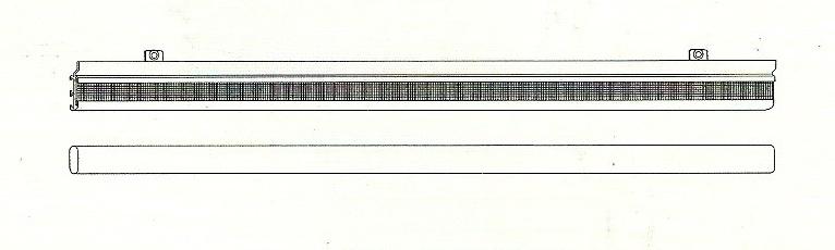 80cm paneelglijder en onderlat