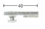 plafondsteun 3mm