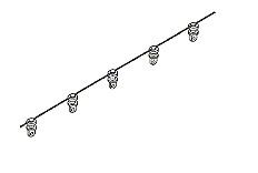 geleiderketting voor wave gordijnen per strekkende meter