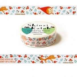 Masking tape Red Hood Flower - Shinzi Katoh * MKT5072