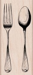 Fork and spoon - Hero Arts * D5418