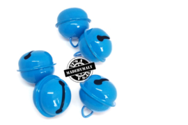 Gesloten belletje 22 mm. domkerder blauw - per stuk