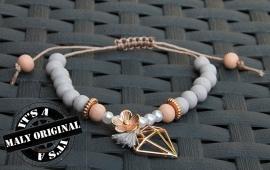 Verstelbare armband met diamantbedel
