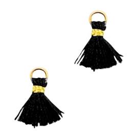 Ibiza style mini kwastje Goud-Zwart