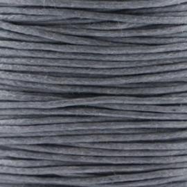 Waxkoord grijs 1 mm. dik, per meter