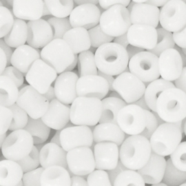 Glaskraal Rocailles 6/0 (4mm) wit