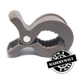 maxicosi clip, kinderwagen clip, boxhanger clip, speelkoord clip, swaddle clip - grijs