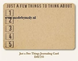 Just a few things journaling card - My Minds Eye * DAY235