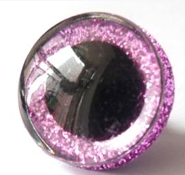 1 paar poppen ogen - veiligheids plush ogen 24 mm roze