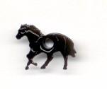 Eyelet paard zwart