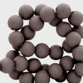 Mat acryl kralen rond 6mm Dover grey, 40 stuks