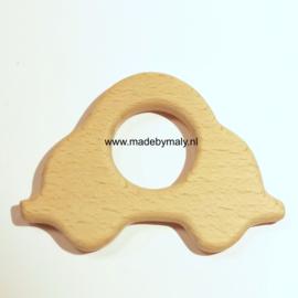 Houten bijtring hout  auto * 5x7,5 cm.