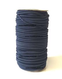 Koord elastiek 3 mm. donkerblauw, per meter - elastisch koord