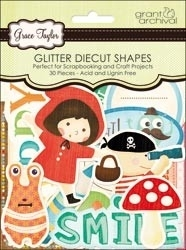 Playtime glitter diecut shapes Grace Taylor - Grant Studios * GT1583