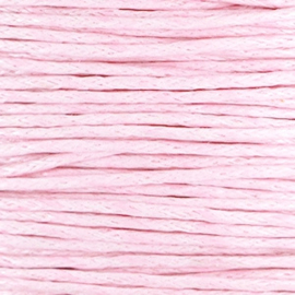 Waxkoord light pink 1,5 mm. dik, per meter