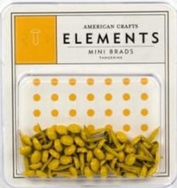 Minibrads tangerine - American Crafts * AC84883