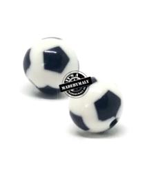 acryl voetbal kraal , 12 mm