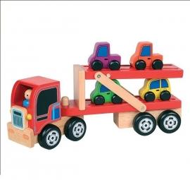 Autotransporter met 4 auto`s - Santoys * F5386