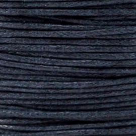 Waxkoord marine blauw  1,5 mm. dik, per meter
