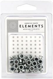 3/16 eyelets zilver ong. 50 stuks