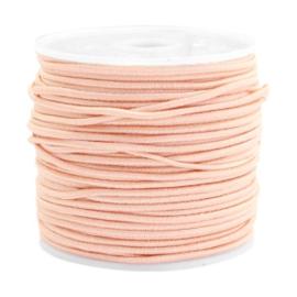 Koord elastiek 1,5 mm. pastel perzik, per meter - elastisch koord