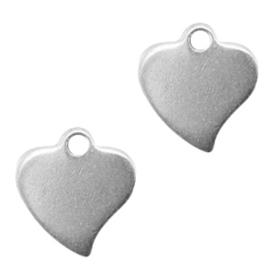 Stainless steel bedels hart van roestvrij staal (RVS) Zilver (RVS)