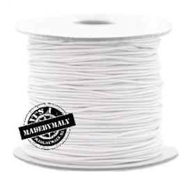 koord elastiek 0,8 mm. wit, per meter - elastisch koord
