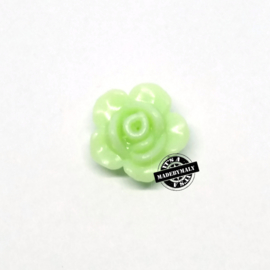 Roosje kraal 13 mm lichtgroen
