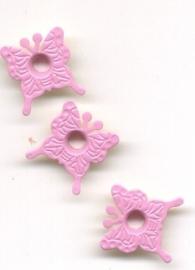 Eyelet vlinder roze