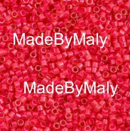 Miyuki Delica's 11/0 luminous poppy red DB2051